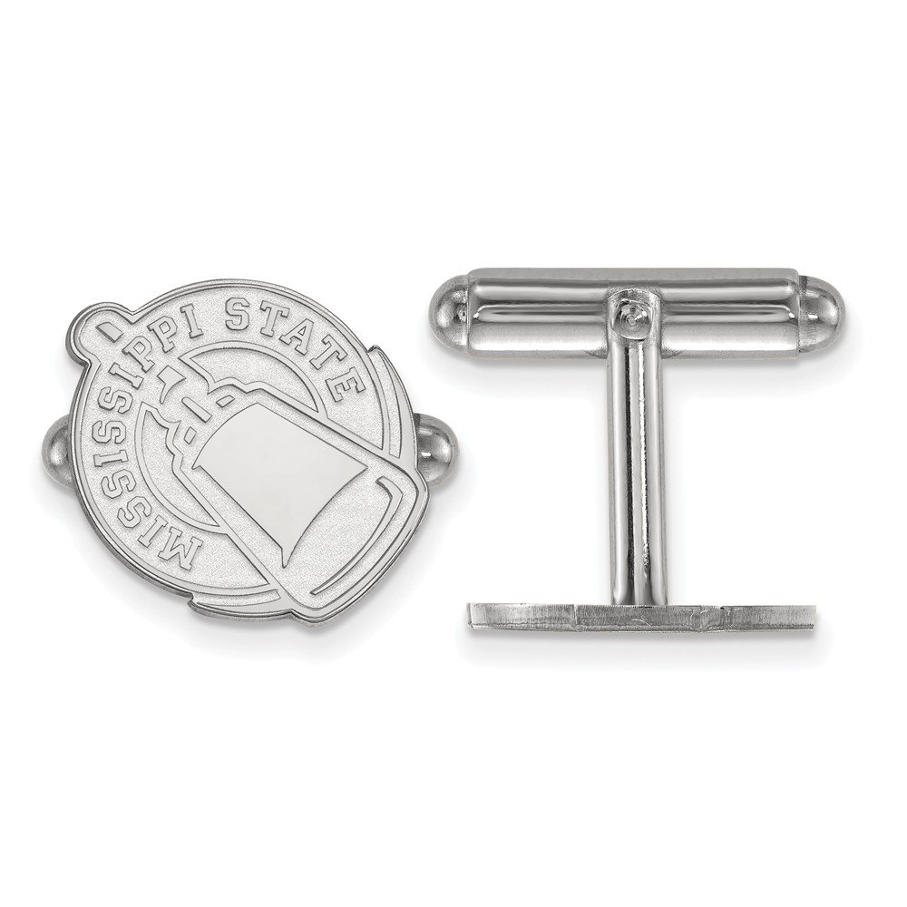 Solid 925 Sterling Silver Mississippi State University Cuff Link 15mm x 15mm