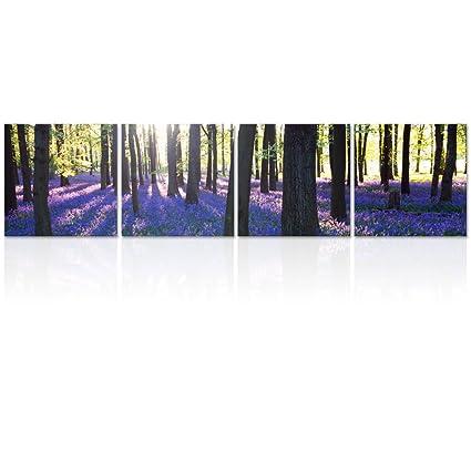 Amazon.com: Visual Art Decor Forest Scenery Wall Art Canvas Prints ...