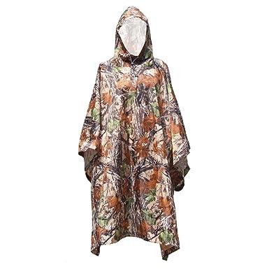 ... Viaje Camuflaje Impermeable Poncho Mochila Cubierta de Lluvia Impermeable Tienda Esterillas toldo Caza Camping Caminata: Amazon.es: Ropa y accesorios