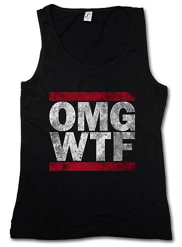 Urban Backwoods OMG WTF Donna Canotta Tank Top Woman Gym Training Fitness Shirt – Taglie S – XL