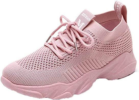 Zapatillas Tejidas de Malla para Mujer en Primavera Verano Zapatillas Transpirables Ocasionales Ligeras de Fondo Suave Zapatillas de Running Endurance: Amazon.es: Zapatos y complementos