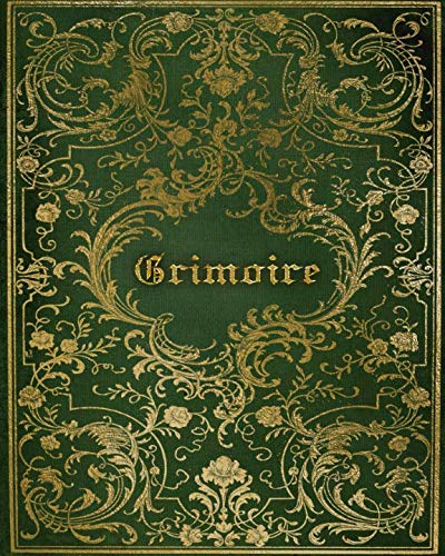 Grimoire: Magickal Book of Shadows For Recording Spells, Rituals, Esbat Celebrations and More | Green Gold Print (Shadows Journal)
