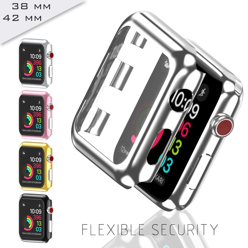 GerTong Apple Watch Case 42mm with Built in Screen Protector for Apple Watch Series 2 3 42mm (Rose Gold) by GerTong (Image #4)