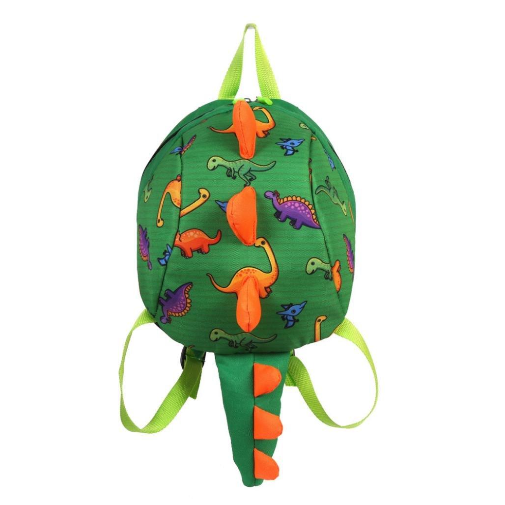 Dinosaur Backpack for Toddler Boys girls, Animal Toddler Book bag Dinosaur Toys Bags Rucksack Toddler School Bag (Green)