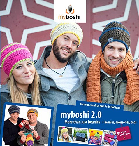 Price comparison product image myboshi 2.0 more than just beanies - crochet pattern book for beanies,  scarfs,  bags,  gloves