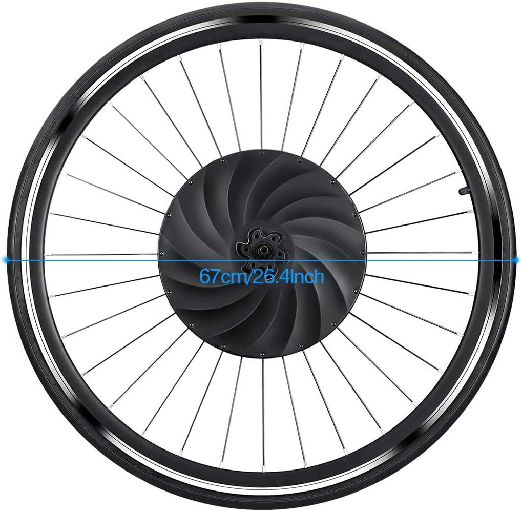 YUNZHILUN 700c iMortor Rueda de Bicicleta Rueda Delantera eléctrica Motor de Bicicleta con Puerto USB Batería Recargable con Bluetooth 4.0 para Android iOS EU: Amazon.es: Deportes y aire libre