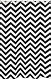Sweet Jojo Designs Black and White Chevron Zig Zag Kids Bathroom Fabric Bath Shower Curtain
