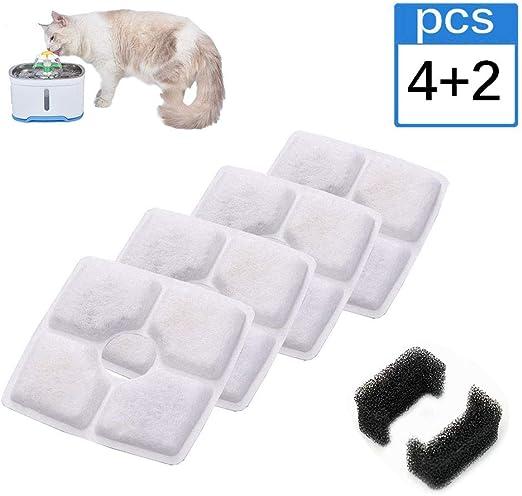 YANFENG Fuente para Gatos,Filtros de Fuente de Agua Cat,Filtro de ...