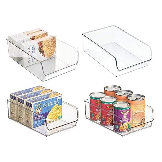 mDesign Cajas organizadoras grandes - cajas plasticas ideales para ...