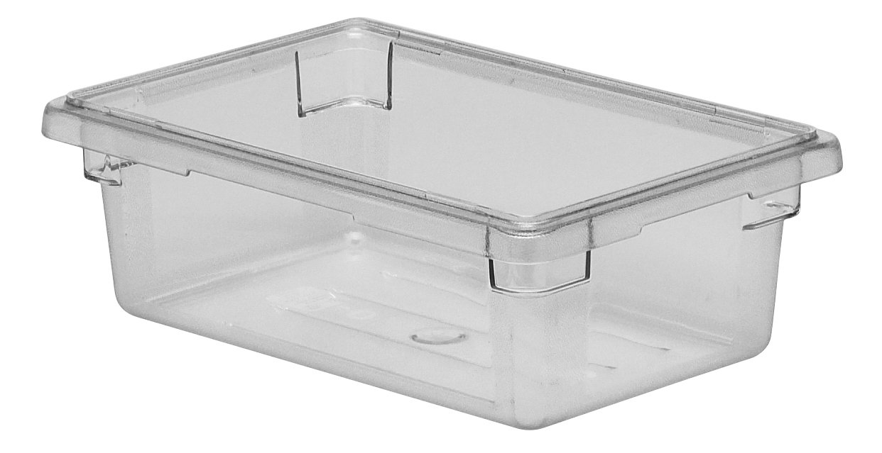 Cambro Camwear 12186CW135 Food Box, 12 by 18 by 6-Inch, Clear