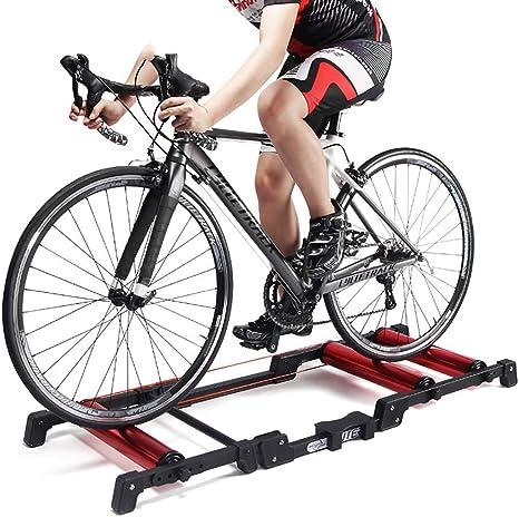 LXDDP Rodillo Entrenamiento Bicicleta, Bicicleta Ejercicio estacionaria Interior Rodillo Entrenador Rodillo Soporte Aleación Aluminio MTB Road Home Cycling: Amazon.es: Deportes y aire libre