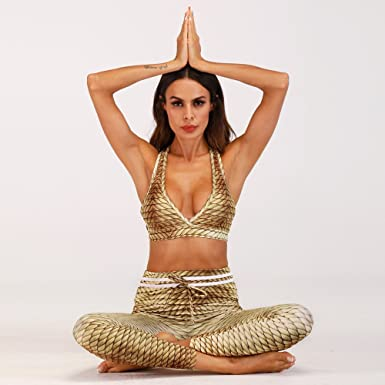 Amazon.com  LJQlion Simulation Digital Printing Woman Yoga Pants Sporting  Leggings Suit Tight Fitness Pants Bottom Hip 2-Piece New 2018 (M)  Clothing 401355ceeeb
