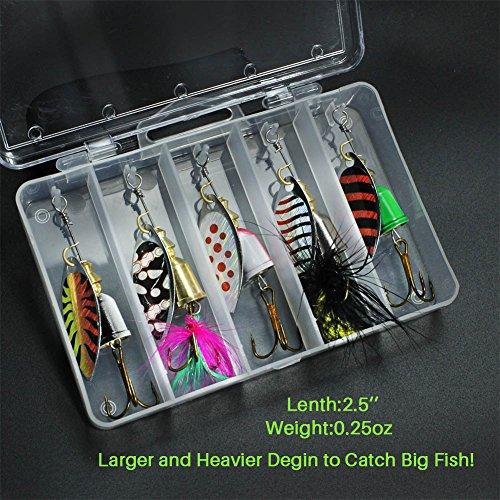 10pcs fishing lure spinnerbait bass trout salmon hard for Bass fishing lure kits