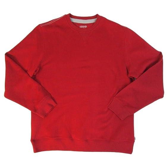 Amazon.com: Izod Mens Long Sleeve Sweater Crew Neck Shirt Fleece ...