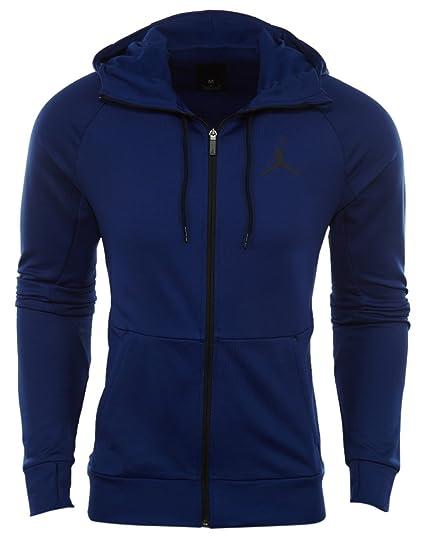44aee8eff Amazon.com : Jordan 360 Fleece Full-Zip Training Hoodie Mens Style:  808690-455 Size: L : Sports & Outdoors