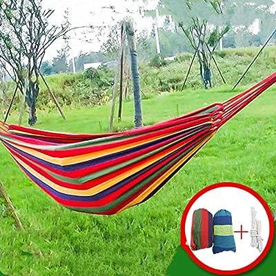 KIKOOY Hamaca para Aire Libre algod/ón con Bolsa para Viaje Camping Jard/ín