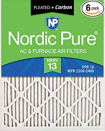 Nordic Pure 20x22x1 MERV 7 AC Furnace Filters Qty 12