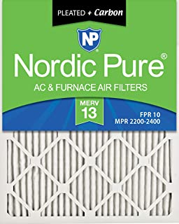 Nordic Pure 16x20x1 Pure Green Eco-Friendly AC Furnace Air Filters 12 Pack