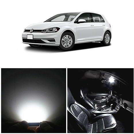 WLJH 11pcs LED luces interiores Súper brillante blanco reemplazo bombillas conjunto para GOLF 6 VI GTI