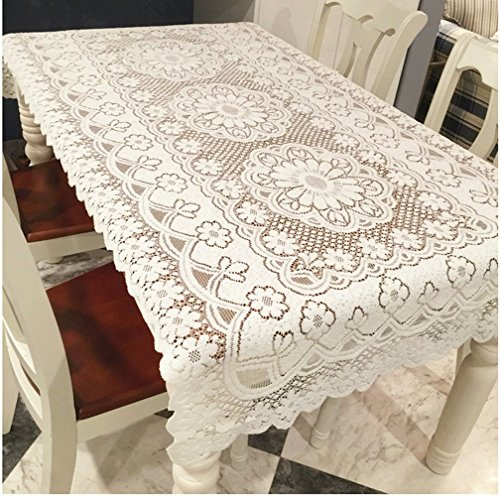 """FashionMall Floral Lace Reusable Tablecloth, 55"""" X 78"""","""