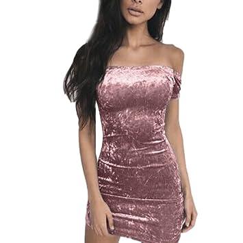 Vestido corto de hombros caídos, para fiesta, vestido de noche, de