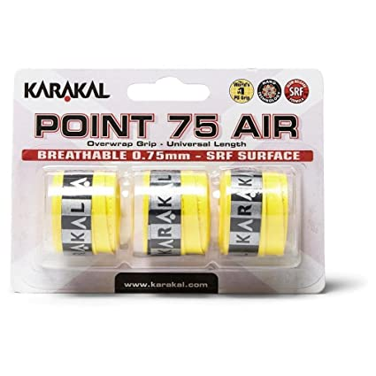Karakal Point 75 Air Overwrap - Grip para raqueta (3 unidades ...