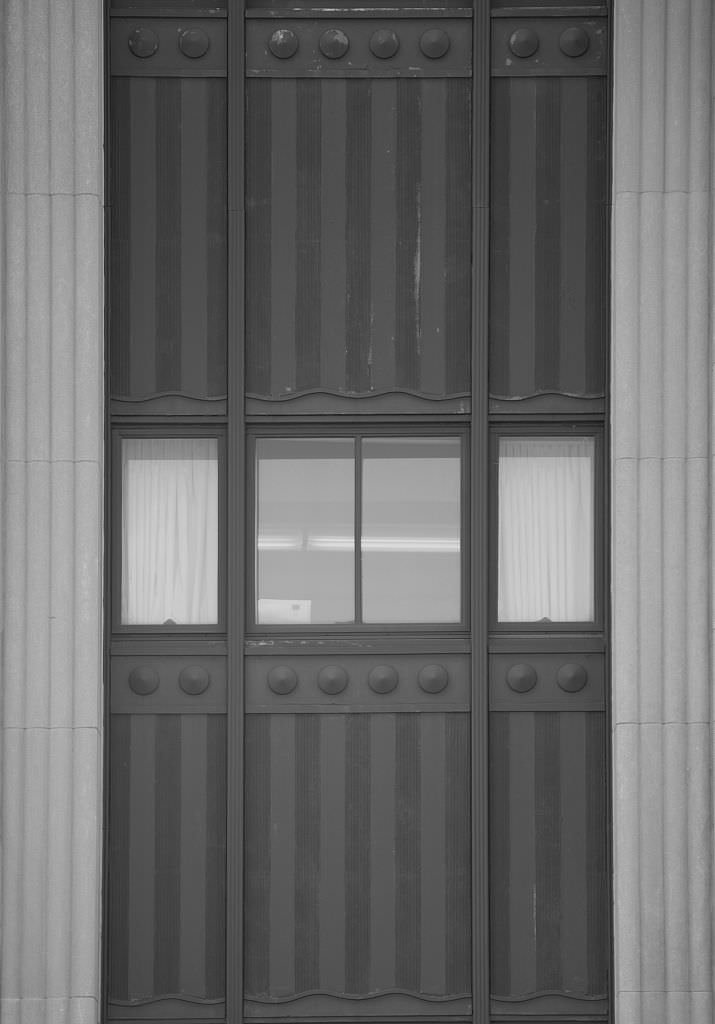 Vintography 8 x 12 Black White Photo Exterior Window Detail Federal Building U.S. Courthouse, Binghamton, New York 2009 Highsmith 24a