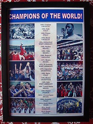 World Winners Cup (Sports Prints UK FIFA football World Cup winners 1930-2018 - framed print)