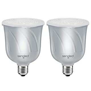 Sengled Pulse Bluetooth Light Bulb JBL Speaker System App Controlled Dimmable LED Bulb Requires Master Pair Add Up to 8 Bulbs BR30 Smart Music Satellite Bulb, Pewter, 2 Pack