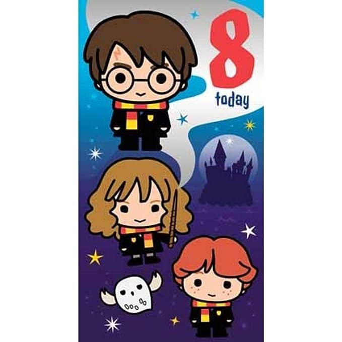 Harry Potter Tarjeta de cumpleaños 8: Amazon.es: Oficina y ...