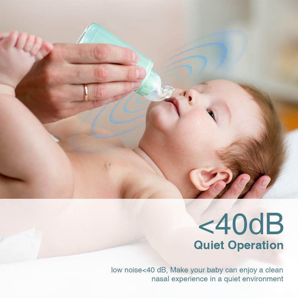Infants /& Toddlers Portable Snot Sucker with 2 Reusable Tips for Newborns Nasal Aspirator Bichiro Baby Mini Electric Nose Cleaner /& Ear Wax Remover with 2 Suction Levels Safe and Hygienic