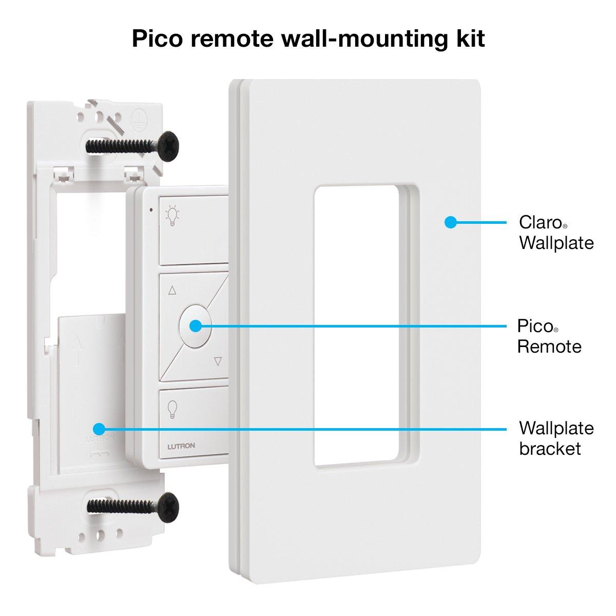 Caseta Wireless Pico Wall Mounting Kit Pj2 Wh L01 White Wiring A Lutron Three Way Dimmer Switch