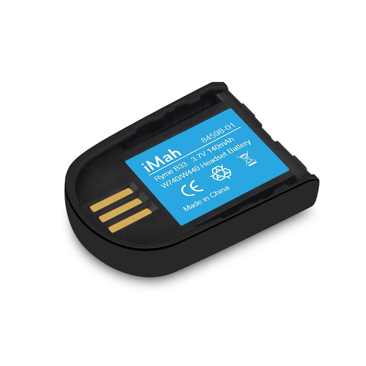 Replacement 84598-01 Battery for Plantronics 82742-01 Headset Battery Savi W440 W445 WH500 W740 W745 CS540XD Wireless Headsets by iMah