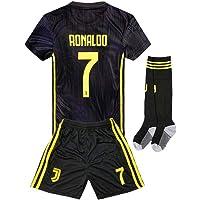 Naxqa-xqy Ronaldo #7 Soccer Jersey 2018-2019 Juventus Away Kids Soccer Jersey