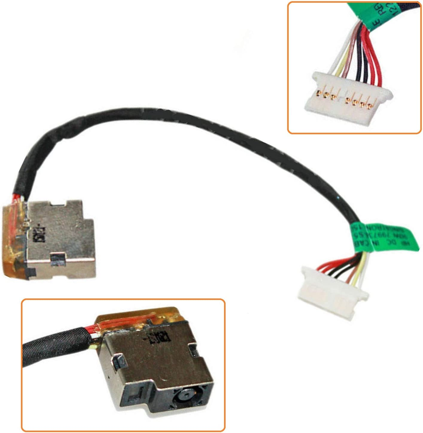 Todiys DC Power Jack Socket with Cable for HP 15-AC121CY 15-AC142DX 15-AF130CA 15-AY015DX 15-AY018NR 15-AY053CA 15-AY177CL 15-BA019NR 15-BA036CA 15-BA052WM 15-BN070WM 799736-F57