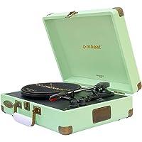 Mbeat MB-TR96TGN Woostock 2 Retro Bluetooth Music Vinyl Turntable Record Player Tiffany GRN