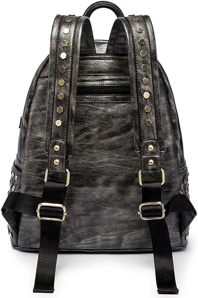 Pattistore Punk Style Rivet Medal Icon Backpack School Bag Daypack Laptop Bag Big Backpacks For Teen Girls Boys