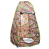Flexzion Pop Up Dressing Tent Portable Privacy Shelter Shower Toilet Fitting Changing Room for Indoor Outdoor Photo Studio Camping Hiking Beach Park Mountain Area with Carrying Bag in Camouflage