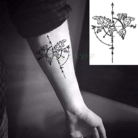 adgkitb 5piezas Etiqueta engomada del Tatuaje Temporal a Prueba de ...