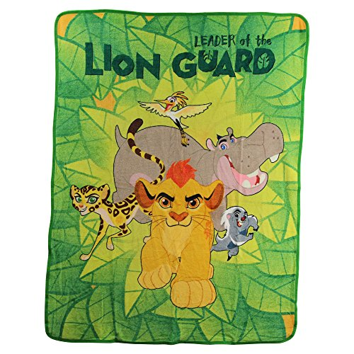 "Kid's Colorful Character Micro Raschel Throw Blanket 46"" x 60"" (Lion Guard ""Crew"")"