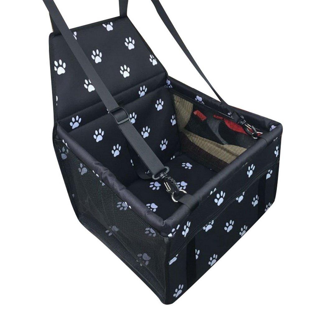 laamei Funda Protector de Asiento del Coche de Seguridad para Mascotas Cubierta Impermeable Protector Caja de Transporte Viaje Bolsas para Perro Gato(40x30x25cm)