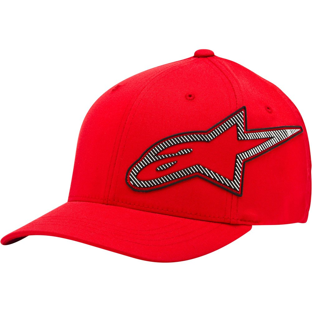 cf965c8705a Amazon.com  Alpinestars Sonic Custom Men s Flexfit Sports Hat Cap - Red    Large X-Large  Automotive