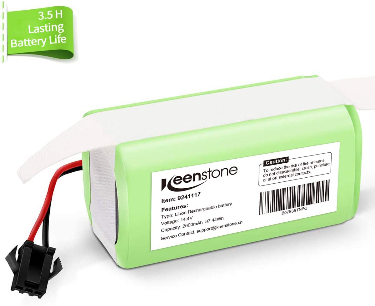 Keenstone Batería de Reemplazo para Conga Excellence 990, 14.4V 2600mah Li-Ion Recargable, Compatible con Conga Excellence 990 950 1090 DEEBOT N79S N79 Eufy RoboVac 11 11S 30 30C 12 35C