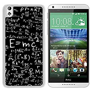 Albert Einstein Math Equations White HTC Desire 816 Screen Phone Case Beautiful and Personalized Design