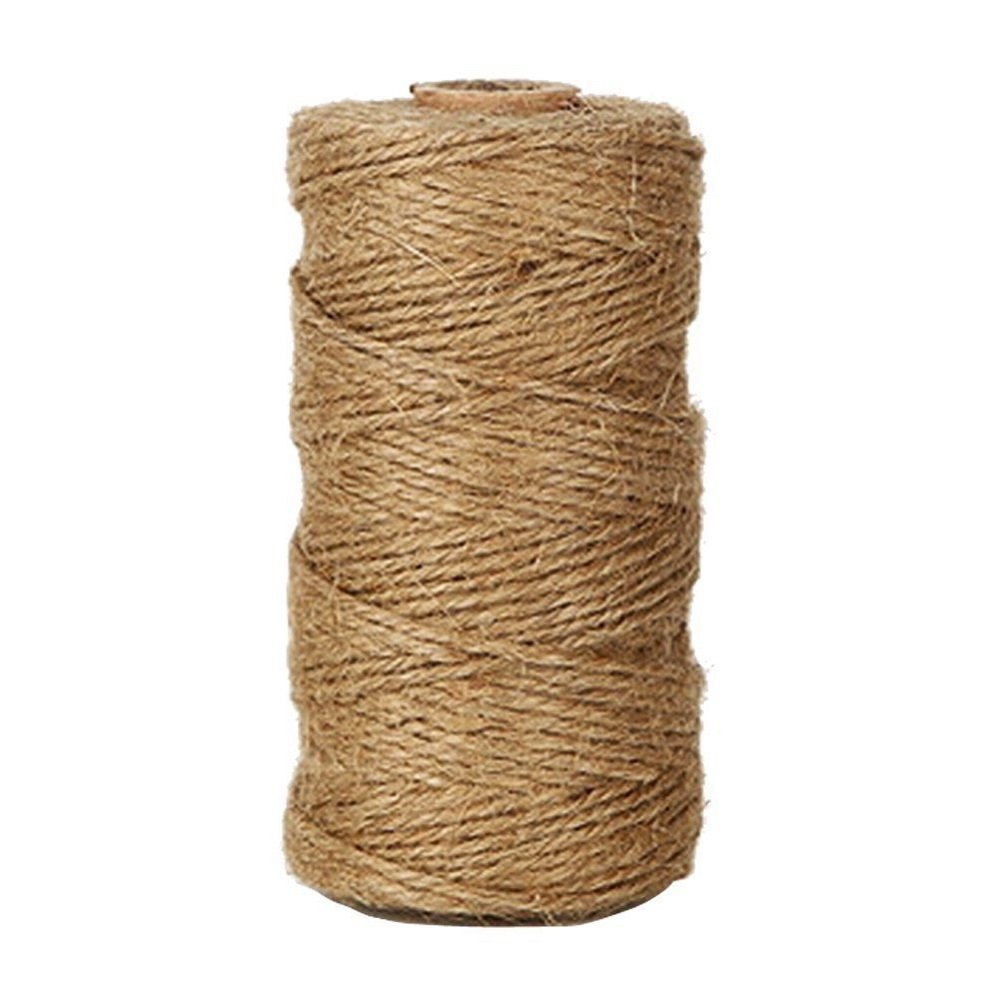 Natural Jute Twine 3 Ply, LaZimnInc Best Arts Crafts Gift Twine, Christmas Twine Industrial Packing Materials Durable String for Gardening Applications (1 Pcs x 300 Feet) by LaZimnInc