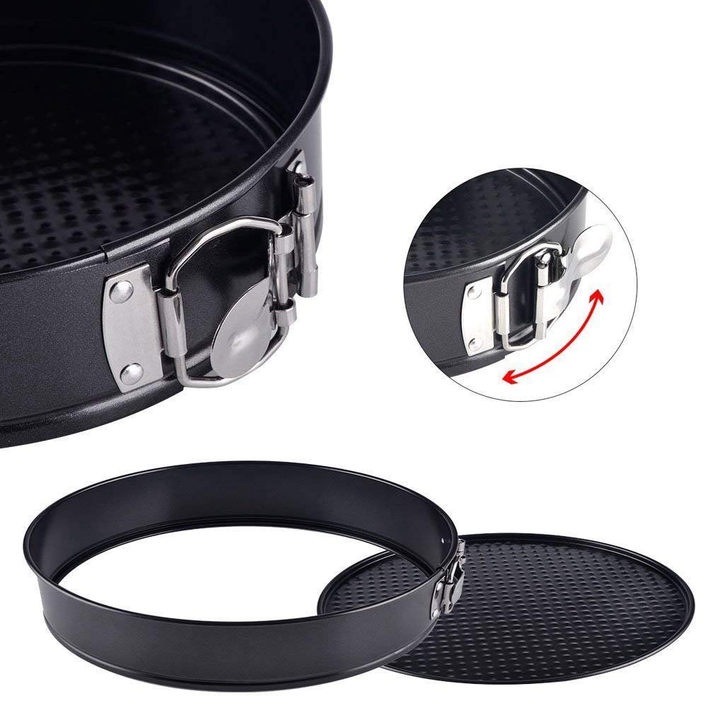 Ants-Store - Cake Pan 3 Pieces/Set 4 Inch 7 Inch 9 Inch Non-Stick Leakproof Round Cake Pan with Removable Bottom Cake Pan by Ants-Store (Image #4)