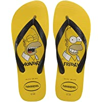 Havaianas Unisex Adult's Simpsons Flip Flops, Yellow Banana/Black, 12/13 UK 47/48 EU