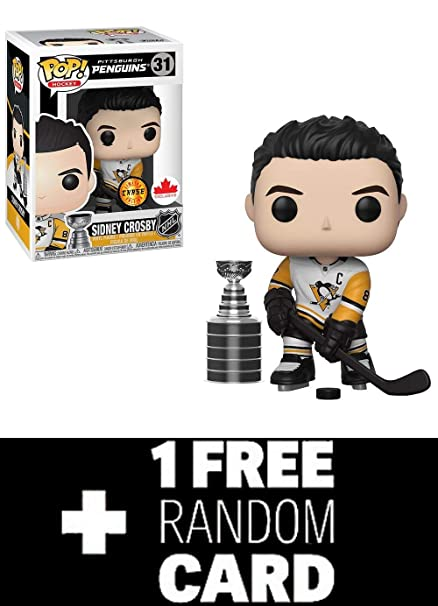 1a07d83d57d Funko POP! NHL  Sidney Crosby Pittsburgh Penguins Grosnor Exclusive (Chase)  + 1 Random NHL Trading Card