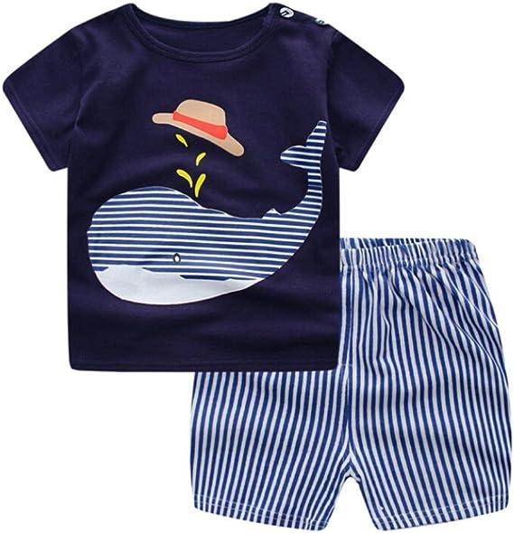 2018 Nuovi Vestiti per Bambini Set Cartoon Whale Print T Shirt Tops + Shorts Pantaloni 2 PC Newborn Outfits Vestiti Set per Baby Calculator® (12 18