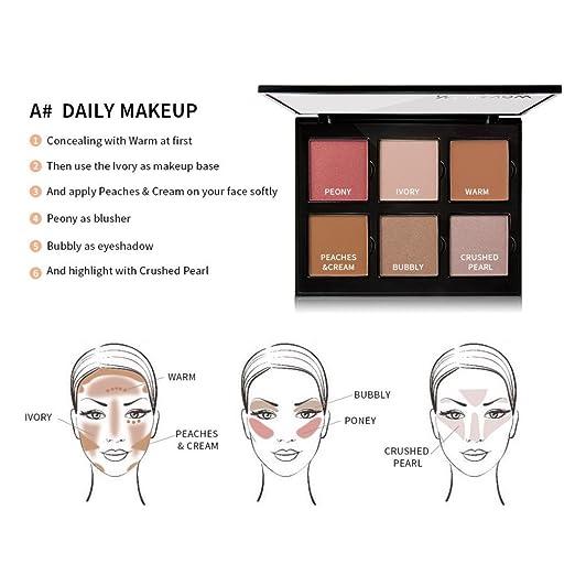 Pleasant Amazon Com Rntop 6 Color Professionl Makeup Eyeshadow Camouflage Wiring Cloud Mangdienstapotheekhoekschewaardnl